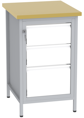 00150681 Stanowisko pod wiertarkę, 3 szuflady (wymiary: 880x550x600 mm)