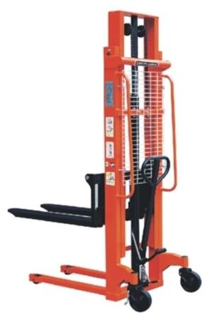 00543617 Wózek podnośnikowy ręczny z widłami regulowanymi oraz dodatkowa pompą nożną (udźwig: 1000 kg, min./max. wysokość wideł: 85/2500 mm)