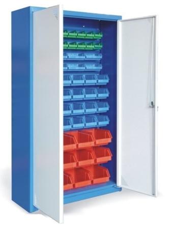 00853849 Szafa magazynowa z pojemnikami do drobnych elementów, 2 drzwi (wymiary: 1800x1000x390 mm)