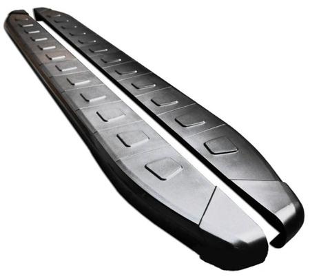 01655955 Stopnie boczne, czarne - Nissan X-Trail T31 2008-2014 (długość: 171 cm)
