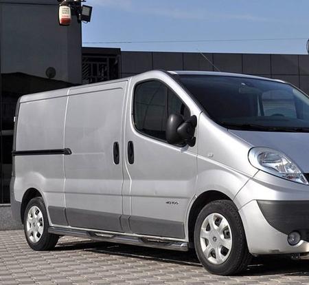 01656384 Orurowanie ze stopniami z zagłębieniami - Opel Vivaro 2002-2014 short 4 stopnie