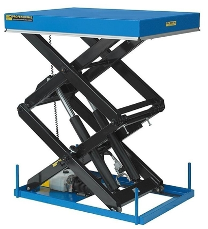 01843678 Podnośnik, podest nożycowy EHL2-15/300-2C (udźwig: 1500 kg, wymiary: 2200x1200mm, skok: 3000mm, moc: 2,3kW)