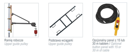 08115160 Wciągarka budowlana, linowa elektryczna Camac Minor Millennium Base (udźwig: 500 kg)