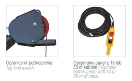 08115185 Wciągarka elektryczna linowa budowlana Camac Minor Millennium 325 (udźwig: 325 kg)