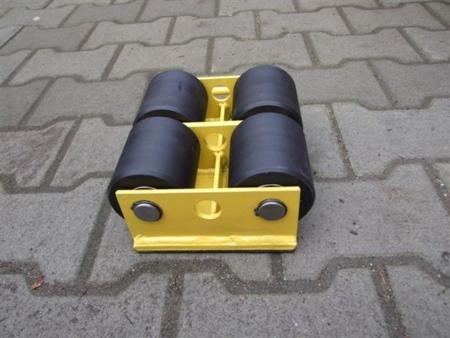 12235589 Wózek stały 4 rolkowy, rolki: 4x nylon (nośność: 4 T)