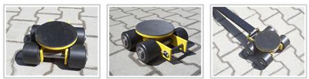 12235599 Wózek skrętny 4 rolkowy, rolki: 4x nylon (nośność: 4 T)