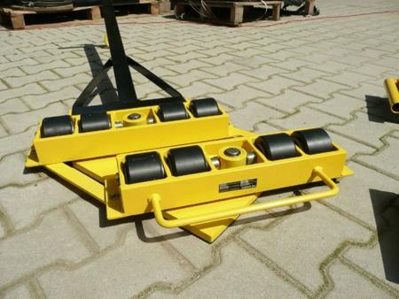12235613 Wózek skrętny 8 rolkowy z prostokątną płytą nośną, rolki: 8x kompozyt (nośność: 12 T)