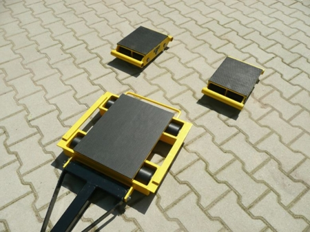 12235630 Zestaw wózków z prostokątną płytą nośną, rolki: 20x nylon (nośność: 18 T)