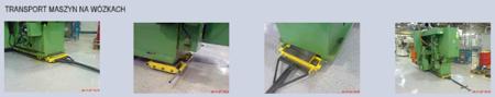 12235631 Zestaw wózków z prostokątną płytą nośną, rolki: 20x kompozyt (nośność: 36 T)
