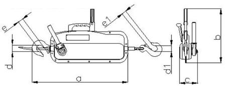 2203107 Wciągnik linowy 30.10/0.8t (długość liny: 30m, udźwig: 0,8 T)