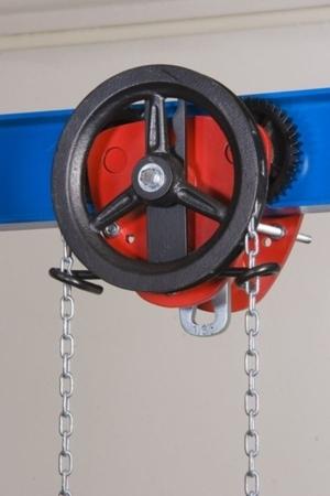 22038978 Wózek jedno-belkowy z napędem ręcznym Z420-B/1.6t/4m (wysokość podnoszenia: 4m, szerokość dwuteownika od: 58-226mm, udźwig: 1,6 T)