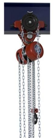 22048212 Wciągnik łańcuchowy przejezdny z ręcznym napędem - wersja przeciwwybuchowa (wysokość podnoszenia: 3m, udźwig: 0,5 T)