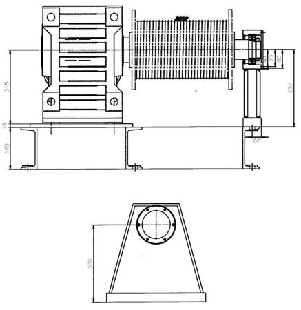 28850137 Elektryczna wciągarka linowa (siła uciągu: 4000/5500 kg)