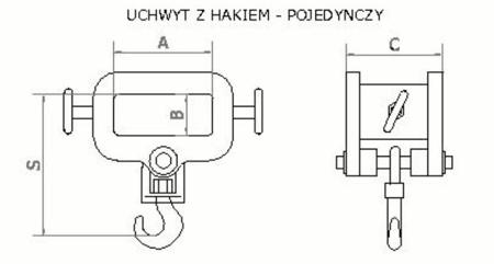 2903548 Uchwyt z hakiem (pojedynczy) (3200kg)