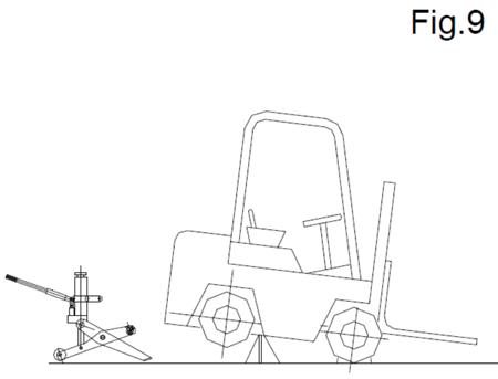 310658 Podnośnik hydrauliczny wózków widłowych HFJ-700A (udźwig: 7 T)