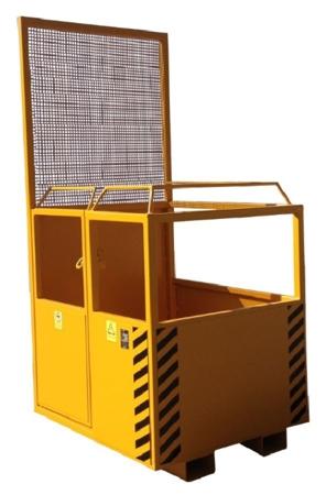 33948640 Kosz na ludzi do wózka widłowego miproFork TWK 800 (udźwig: 300 kg, powierzchnia podłogi: 800x1200 mm)
