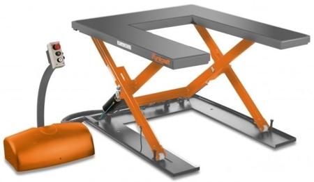 44340153 Kompaktowy stół niskiego podnoszenia Unicraft SHT 1001 U (udźwig: 1000 kg)