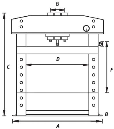 44340225 Prasa hydrauliczna Unicraft WPP 30 E (siła nacisku: 30 t)