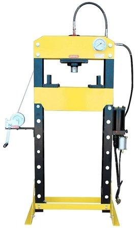 44358875 Prasa hydrauliczna, pneumatyka, ruchomy tłok, regulowany stół (siła nacisku: 40 T)
