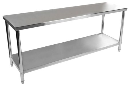 4564349 Stół roboczy ze stali nierdzewnej bez kantu Royal Catering RCAT-200/60 (wymiary: 200 x 60 x 85 cm)