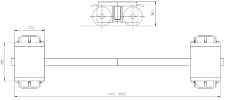 4993998 Podwozie transportowe F20 (nośność: 20T)