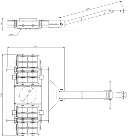 4994003 Podwozie transportowe L40 (nośność: 40T)