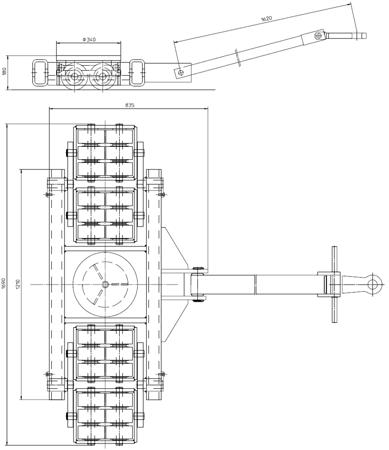 4994005 Podwozie transportowe L60 (nośność: 60T)