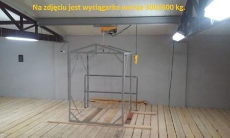 55928504 Wyciągarka linowa elektryczna Industrial 300/600 230V, hamulec automatyczny (udźwig: 300/600 kg)