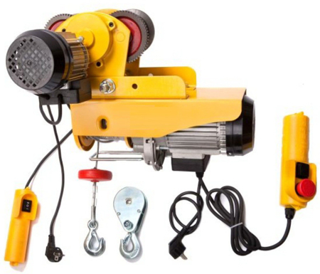 55938124 Wyciągarka linowa elektryczna Industrial 125/250 230V, hamulec automatyczny (udźwig: 125/250 kg)