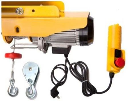 55951165 Wyciągarka linowa elektryczna Industrial 500/990 230V, hamulec automatyczny (udźwig: 500/990 kg)  stare 1200 kg + wózek elektryczny 1T