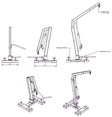 61730189 Żuraw do wózka widłowego (udźwig: 300 kg)