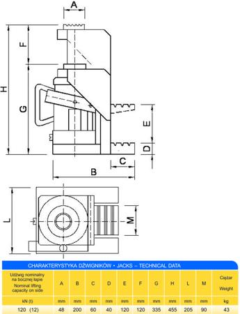 62725744 Podnośnik z bocznym podnoszeniem (udźwig: 12T)