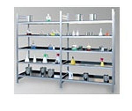 77156826 Regał ocynkowany zaczepowy na chemikalia, 4 półki (wymiary: 2000x1000x400 mm)