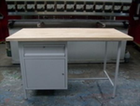 77156838 Stół warsztatowy jednostanowiskowy, drzwi, szuflada (wymiary: 1500x750x900 mm)