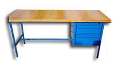 77156840 Stół warsztatowy, 4 szuflady (wymiary: 1500x750x900 mm)