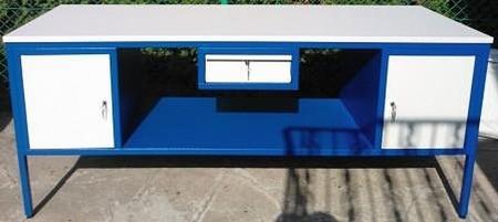 77156957 Stół warsztatowy, 2 szafki, 1 szuflada (wymiary: 1800x800x850 mm)