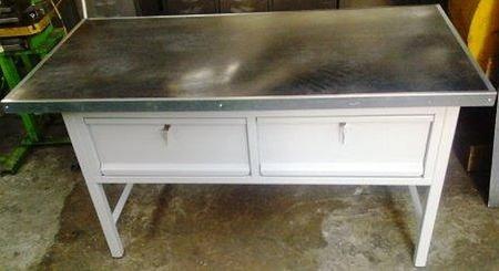 77156968 Stół warsztatowy, 2 szuflady (wymiary: 1500x750x850 mm)