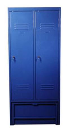 77157024 Szafa odzieżowa z ławką chowaną, 2 drzwi (wymiary: 1900x600x480 mm)
