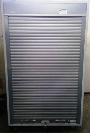 77157094 Szafa biurowa z żaluzją aluminiową, 4 przestawiane półki (wymiary: 1800x1000x460 mm)