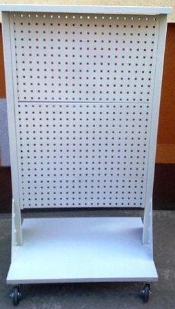 77157363 Wózek narzędziowy z tablicami perforowanymi (wymiary: 1600x850x600 mm)