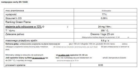 86854939 Piec wolnostojący Invicta 8kW Mesnil (górna średnica wylotu spalin: 150mm, kolor: antracyt)