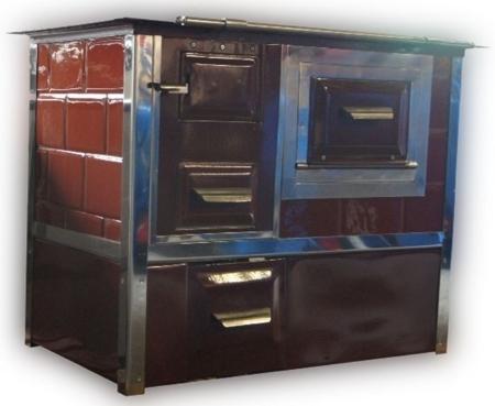 92238158 Kuchnia węglowa 9,5kW Monika z wężownicą (kolor: brąz)