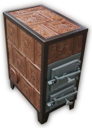92238180 Piec grzewczy kaflowy 7,8kW Retro trzywarstwowy na drewno i węgiel (kolor: brąz)