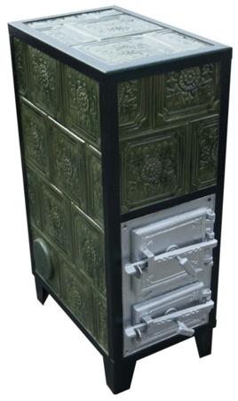 92238184 Piec grzewczy kaflowy 9,5kW Retro czterowarstwowy na drewno i węgiel (kolor: beż)
