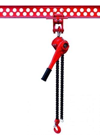 9588180 Wciągnik łańcuchowy dźwigniowy, łańcuch Galla WŁG-15A (udźwig: 1,5 T)