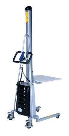 99724815 Wózek podnośnikowy z podestem elektryczny GermanTech E 150A (max wysokość: 1500 mm, udźwig: 150 kg)