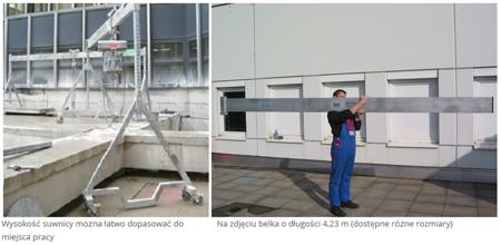 99947314 Suwnica bramowa aluminiowa z kołami (udźwig: 1000 kg, szerokość: 4,23m, wysokość: 3,385m, wys. dla pracy wciągarki: 2,00-3,00 m)