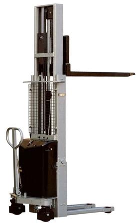 DOSTAWA GRATIS! 310511 Wózek podnośnikowy z częściowym napędem elektrycznym (maszt pojedyńczy, wysokość podn. maks: 1600mm, udźwig: 1000 kg)