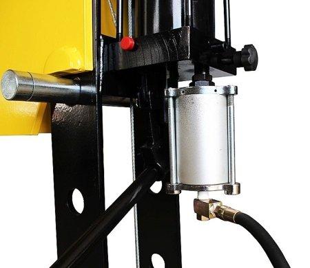 DOSTAWA GRATIS! 44358876 Prasa hydrauliczna, pneumatyka, ruchomy tłok, regulowany stół (siła nacisku: 50 T)