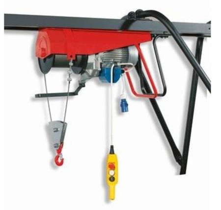 DOSTAWA GRATIS! 55547216 Wciągarka budowlana elektryczna + zdalne sterowanie z niskim napięciem (udźwig: 500 kg, długość liny: 25m)